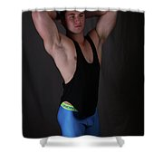 Daniel Black Tank Shower Curtain