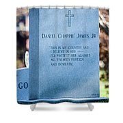 Daniel Chappie James Jr Shower Curtain