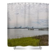 Daniel Island Commerce View Shower Curtain