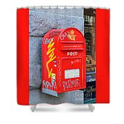 Danish Mailbox Shower Curtain