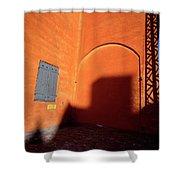 Danish Orange And Shadows  Copenhagen Denmark Shower Curtain