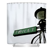 Danish Toilet Sign Shower Curtain