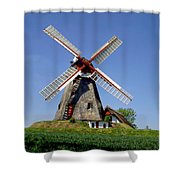 Danish Windmill Shower Curtain