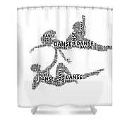 Danse Shower Curtain