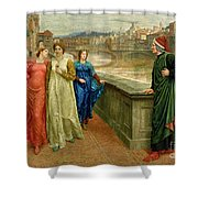 Dante And Beatrice Shower Curtain by Henry Holiday