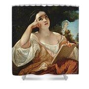 Dante's Inspiration Shower Curtain