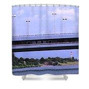 Danube River Bridges Shower Curtain