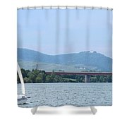 Danube River Sailor Shower Curtain