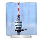 Danube Tower Vienna Shower Curtain