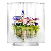 Danube Village Shower Curtain