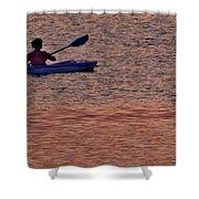 Danvers River Kayaker Shower Curtain