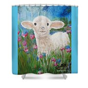 Flying Lamb Productions     Daphne Star In The Tall Grass Shower Curtain