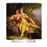 Daphnis And Chloe Shower Curtain