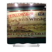 D'arcy's Old Irish Whiskey Shower Curtain