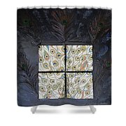 Dare To Be Different I Peacock Shower Curtain