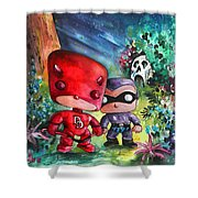 Funkos Daredevil And The Phantom In The Jungle Shower Curtain