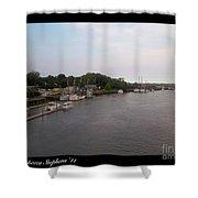 Darien Harbor Shower Curtain