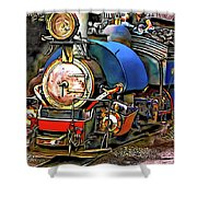 Darjeeling Toy Train Shower Curtain
