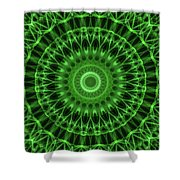 Dark And Light Green Mandala Shower Curtain
