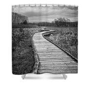 Dark Appalachian Trail Shower Curtain
