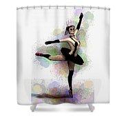 Dark Ballerina  Shower Curtain