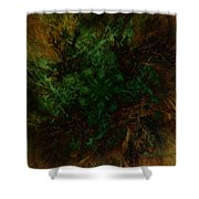 Dark Brambles Shower Curtain