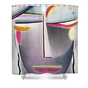 Dark Buddha Shower Curtain by Alexej von Jawlensky
