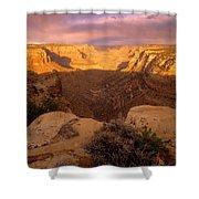 Dark Canyon Sunset Shower Curtain