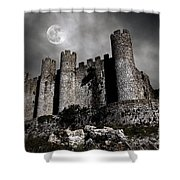 Dark Castle Shower Curtain by Carlos Caetano