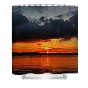 Dark Cloud Sunrise Shower Curtain