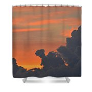 Dark Clouds At Sunset  Shower Curtain