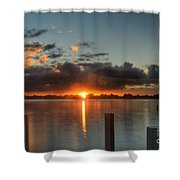 Dark Clouds Horizontal Shower Curtain