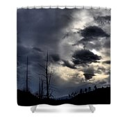 Dark Clouds Shower Curtain