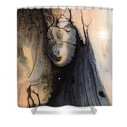 Dark Deliberation Shower Curtain