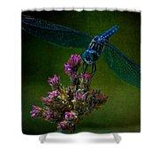 Dark Dragonfly Shower Curtain