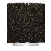 Dark Energy With Lighting Shower Curtain