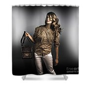 Dark Fashion Style With Fashionable Bag Accessory Shower Curtain
