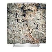 Dark Fissures On Limestone Rock Shower Curtain