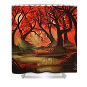 Dark Forest Shower Curtain