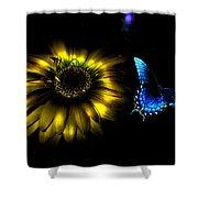 Dark Glow Butterfly Shower Curtain