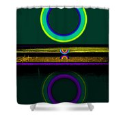 Dark Green Lake Shower Curtain