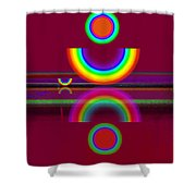 Dark Heat Shower Curtain