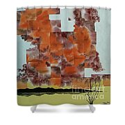 Dark Mist Arising Shower Curtain