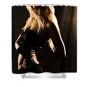 Dark Mysterious Dancer Shower Curtain