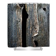 Dark Old Wooden Boards With Shadow Shower Curtain