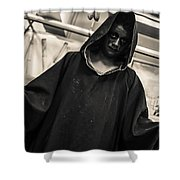 Dark Performer 1 Shower Curtain