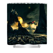 Dark Planet Shower Curtain