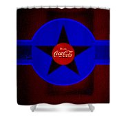 Dark Red Shower Curtain