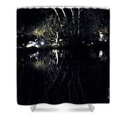 Dark Reflections Shower Curtain