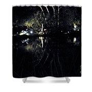 Dark Reflections Shower Curtain